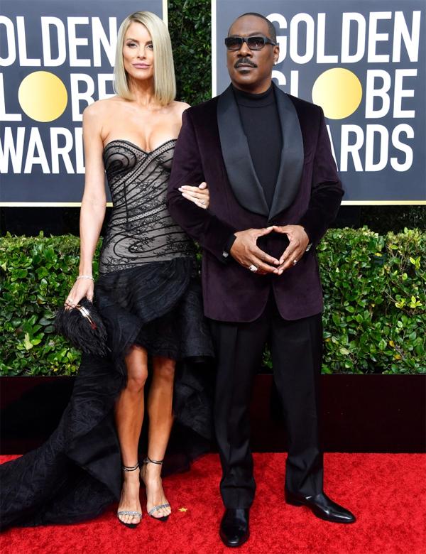 Trở lại Quả cầu vàng với đề cử Nam diễn viên chính xuất sắc sau nhiều năm vắng bóng,Eddie Murphy hãnh diện đến cùng vợ sắp cướiPaige Butcher.