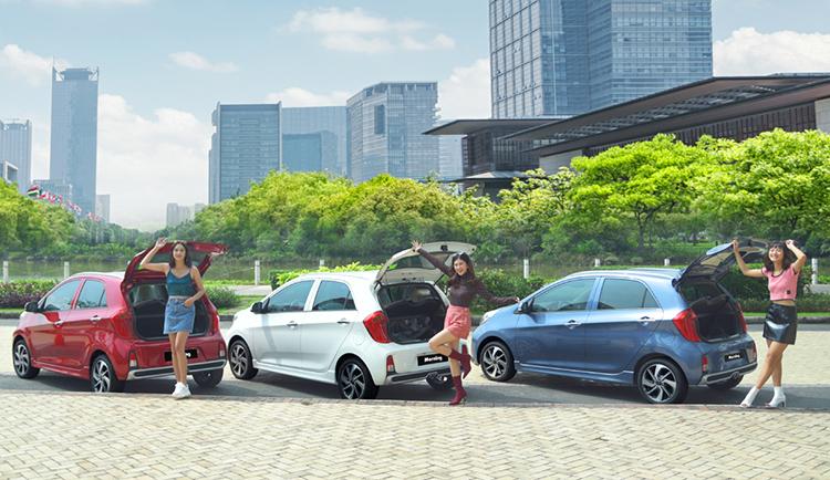 Dòng xe Kia Morning nhỏ gọn, tiện lợi khi di chuyển, đỗ xe.
