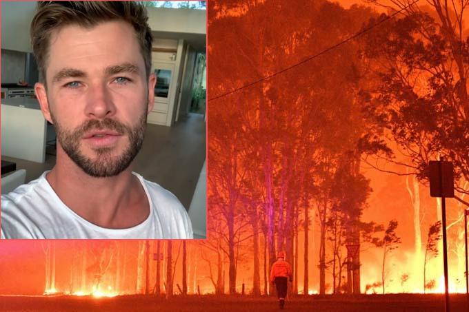 Chris Hemsworth kêu gọi người hâm mộ quyên góp khắc phục nạn cháy rừng ở Australia.