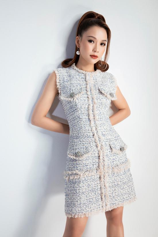Trong bộ sưu tập Luxe dành cho ngày đầu năm mới, Đỗ Long chọn chất liệu vải tweed làm chủ đạo.