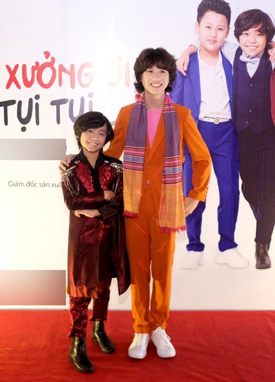 Bé Gia Khiêm bất ngờ khigặp đàn em tên Justincó ngoại hình và phong cách khá giống mình tại sự kiện điện ảnh ở TP HCM.