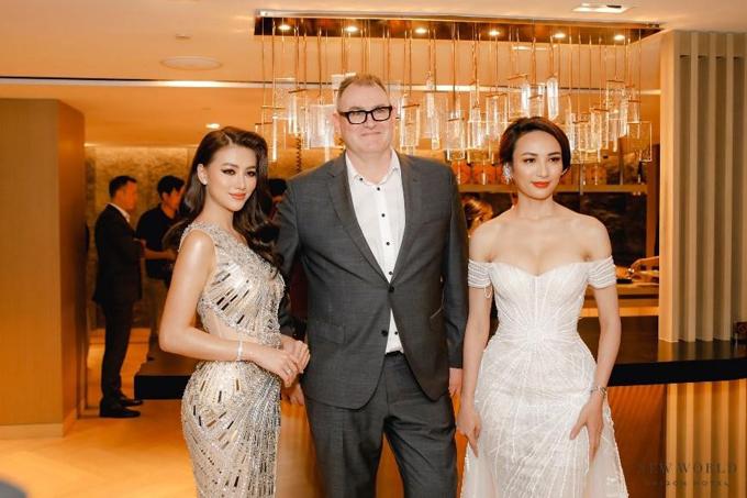 Hoa hậu Du lịch Việt Nam 2008 Ngọc Diễm (phải)và Hoa hậu Trái Đất Phương Khánh. Ngọc Diễm còn đảm nhận vai trò MC tại sự kiện.