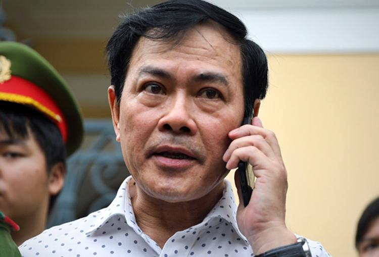 Nguyễn Hữu Linh tại phiên xử phúc thẩm. Ảnh: Hữu Khoa.