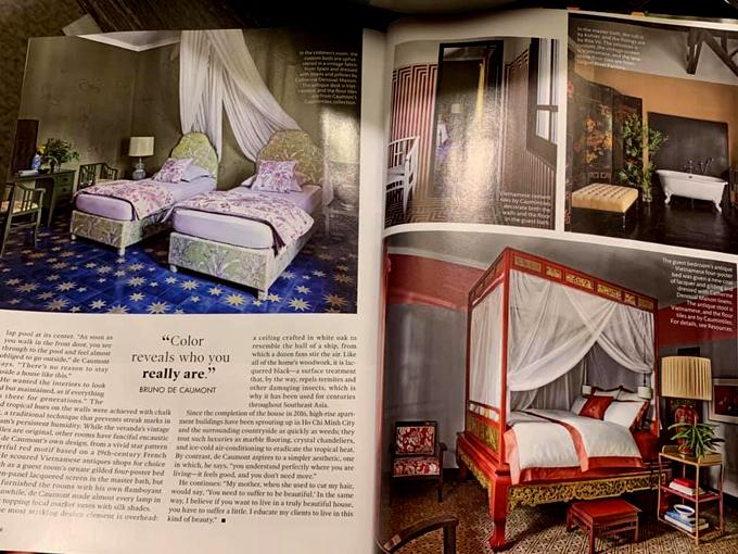 [Caption]Biệt thự LaTrang trên Elle Decor USA, một trong những tạp chí thiết kế nội thất uy tín nhất thế giới