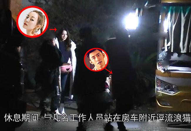 Địch Lệ Nhiệt Ba qua đêm nhà Hoàng Cảnh Du