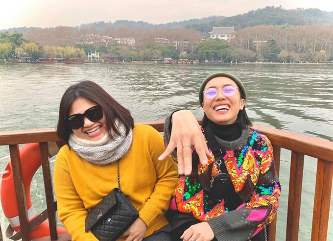 Diệu Nhi oằn mình chụp ảnh khi du lịch Trung Quốc - 8