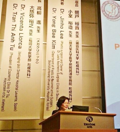 TS.BS Tú thuyết trình tại Hội nghị của Hội PTTM Nhật Bản, tháng 9/2014.