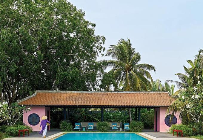 Biệt thự tọa lạ tại quận 9 TP HCM với không gian mát mẻ, đầy màu xanh thiên nhiên.