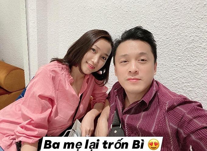 Vợ chồng Lam Trường - Yến Phương trốn con đi chơi riêng.