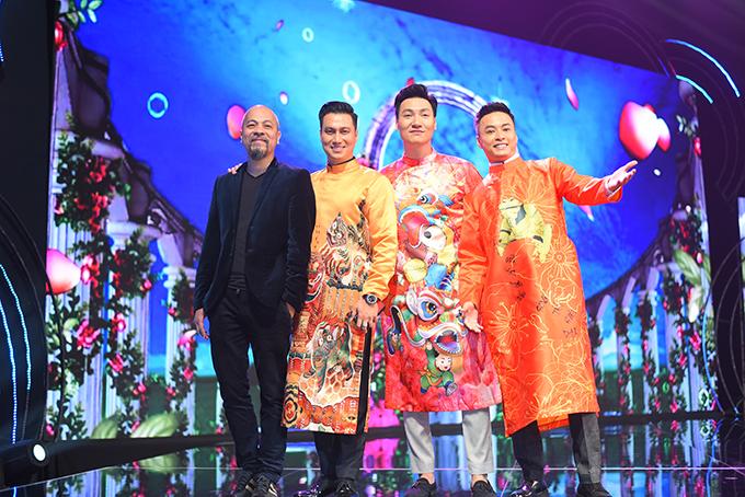 Các tài tử sẽ có màn trình diễn bộ sưu tập áo dài trong chương trình Gặp gỡ diễn viên truyền hình năm nay.