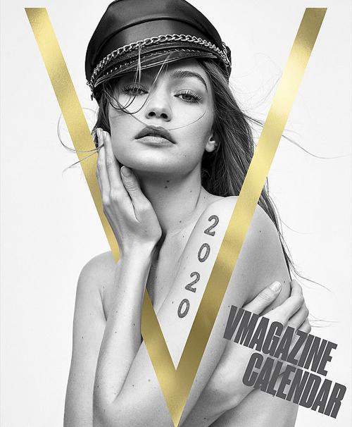 Gigi Hadid xuất hiện trên trang bìa ảnh lịch của tạp chí thời trang V.