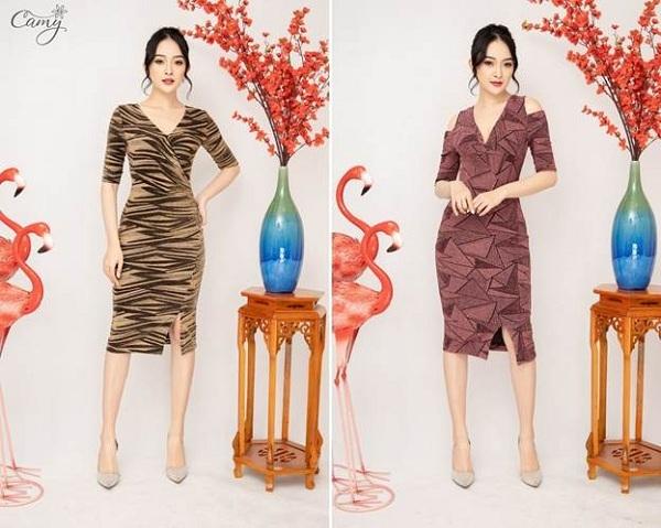 Thế mạnh của Camy là những dòng sản phẩm váy mang tính ứng dụng cao, mang đến sự thanh lịch và hiện đại nhưng vẫn giữ được nét đẹp mềm mại của phụ nữ Á Đông. Vì vậy, Camy thường lựa chọn chất liệu voan lụa, tằm sọc, chiffon nhẹ nhàng và bay bổng.