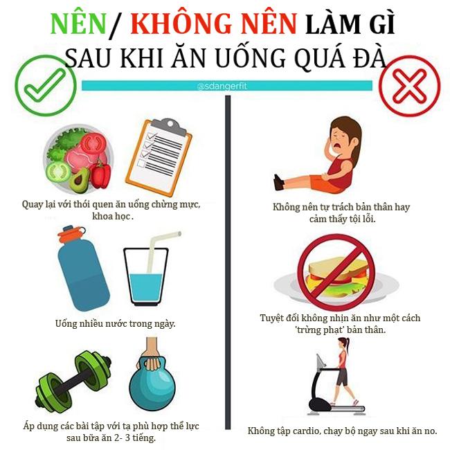 3 việc nên làm sau khi trót ăn uống xả láng
