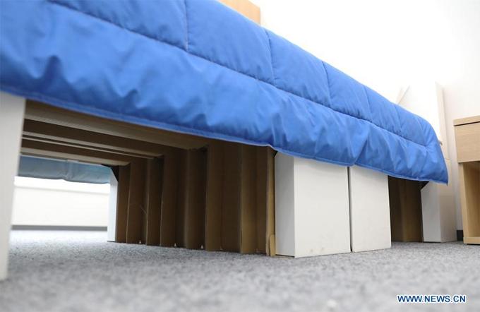 Sau kỳ Thế vận hội, khung giường sẽ được tái chế trong công nghiệp làm giấy còn chiếu nhựa cũng được tái chế.
