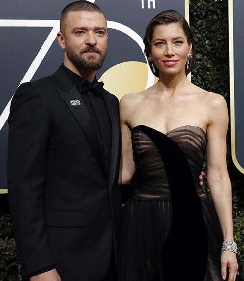 Vợ chồng Justin Timberlake.