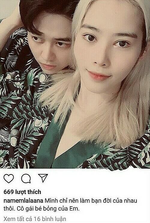 Nam Em từng đăng ảnh tình tứ bên VJ Quốc Bảo.