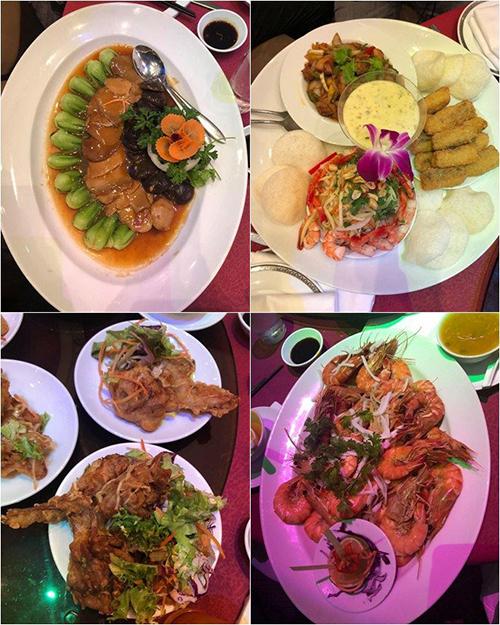 Hình ảnh các món ăn trong bàn tiệc cưới của Võ Hạ Trâm.