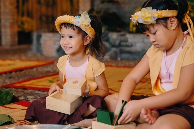 Vũ Thu Phương mong các con hiểu hơn văn hóa người Việt qua những hoạt động ý nghĩa cùng gia đình.