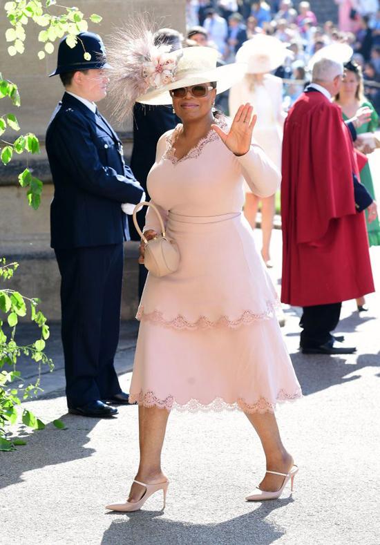Oprah Winfrey dự đám cưới của Harry - Meghan ở lâu đài Windsor hồi tháng 5/2018. Ảnh: PA.