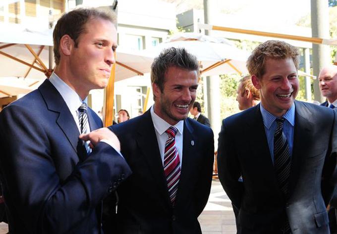 Anh em William và Harry là bạn lâu năm với David Beckham. Ảnh: PA.
