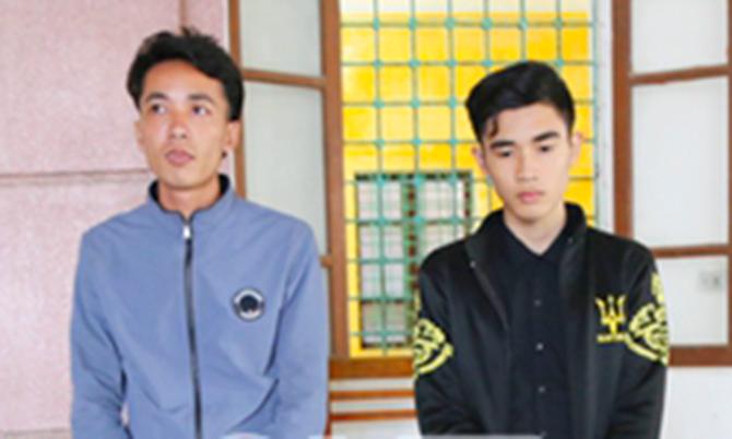 Nghi can Đạo (phải) và Bình. Ảnh: C.A