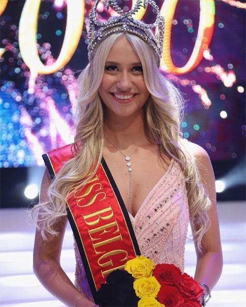 Celine đăng quang Hoa hậu Bỉ 2020.