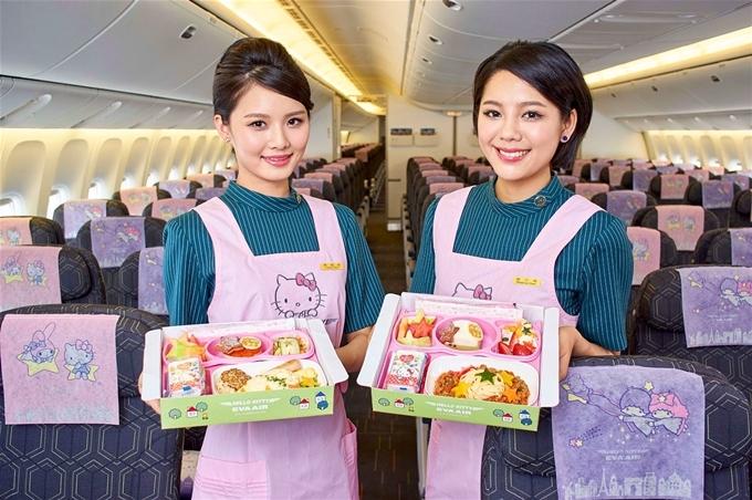 Hãng hàng không có trụ sở chính tại Đài Bắc này là một trong những hãng đầu tiên sở hữu Boeing 787-10 Deamliner - máy bay lớn nhất thế giới hiện nay, và là một trong những hãng hàng không đầu tiên có hạng phổ thông cao cấp. Đội bay đường dài chủ yếu là máy bay thân rộng thoải mái. Bên cạnh đó, những chuyến bay Hello Kitty của Eva Air khiến nhiều bạn trẻ thích thú.