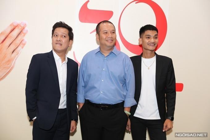 Trường Giang, Quang Huy, Mạc Văn Khoa (từ trái sang) tại họp báo phim 30 chưa phải Tết hồi cuối tháng 11.