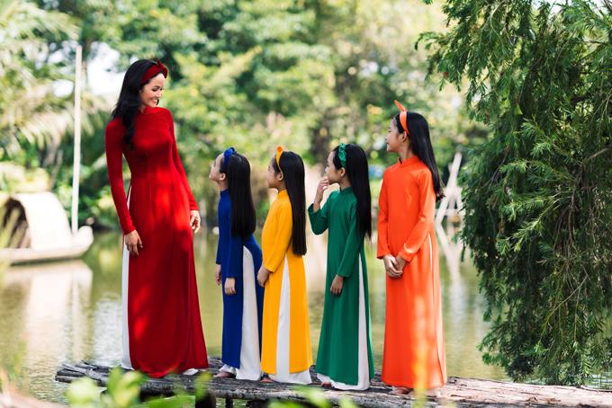 HHen Niê diện áo dài Thuận Việt - 1