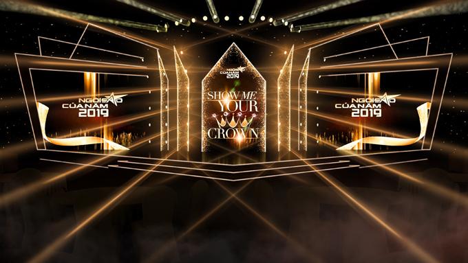 Phối cảnh sân khấu lễ trao giải Ngôi sao của năm.