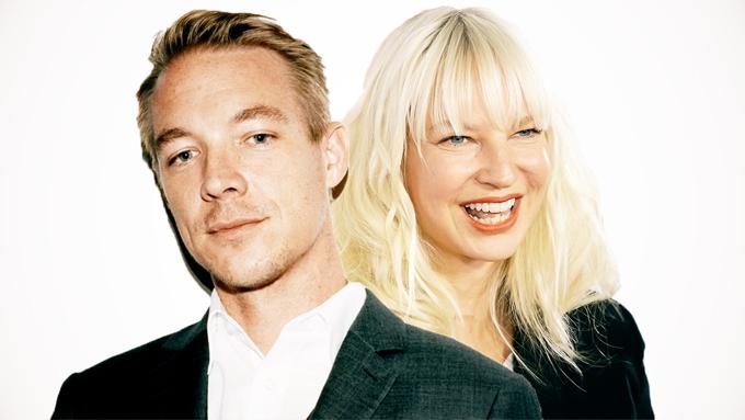 Sia và đồng nghiệp thân thiết Diplo.