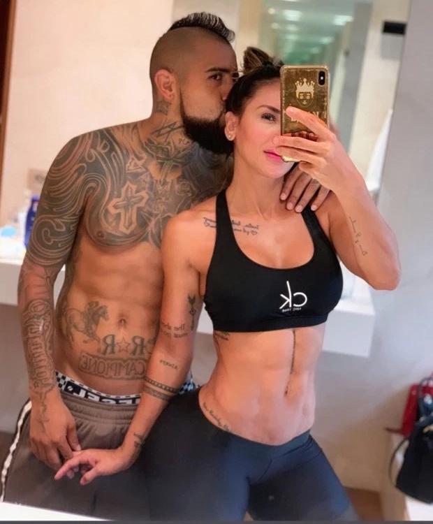 Vidal và người đẹp Sonia Isaza gắn bó gần ba năm
