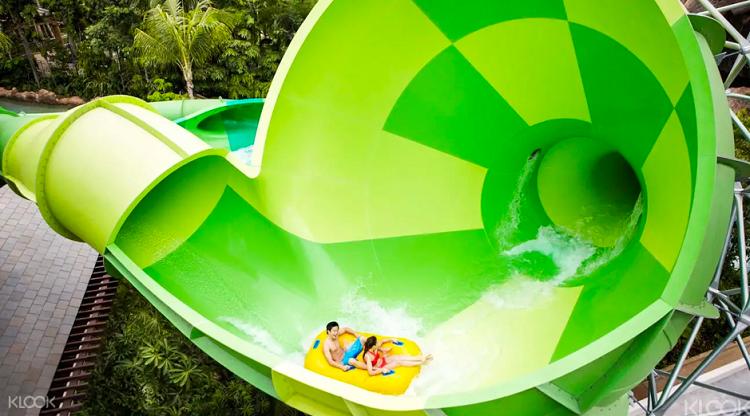 Công viên nước Adventure Cove Waterpark là điểm đến tươi mát, giúp du khách thư giãn với hàng loạt trò chơi thú vị dưới nước. Ảnh: Courtesy of Klook.