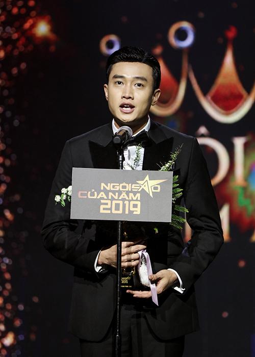 Với 27,9% tổng điểm bình chọn từ khán giả và hội đồng chuyên môn, Quốc Trường vượt qua Nhật Kim Anh, Lan Ngọc, Bảo Thanh, Hoàng Yến Chibi để nhận cúp Ngôi sao phim ảnh. Anh cho biết 2019 là một năm không thể nào quên với bản thân.