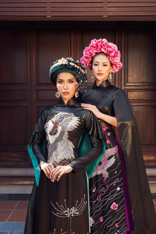 Đây là lần đầu tiên nhà thiết kế Võ Việt Chungkết hợp chất liệu lụa lãnh Mỹ A và lụa Hà Đông.