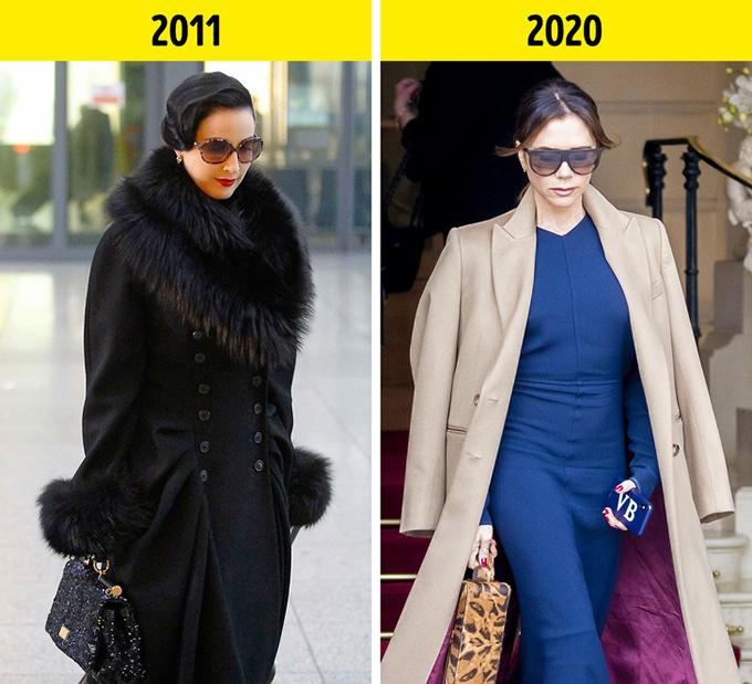 Áo choàng trang trí lông ở cổ, tay hoặc túiSự rườm rà đã bị đánh bại bởi phong cách đơn giản, thanh lịch. Ở mùa mốt mới, hầu hết thương hiệu đều lăng-xê áo choàng suông dài, đứng dáng, không bổ sung nhiều chi tiết.