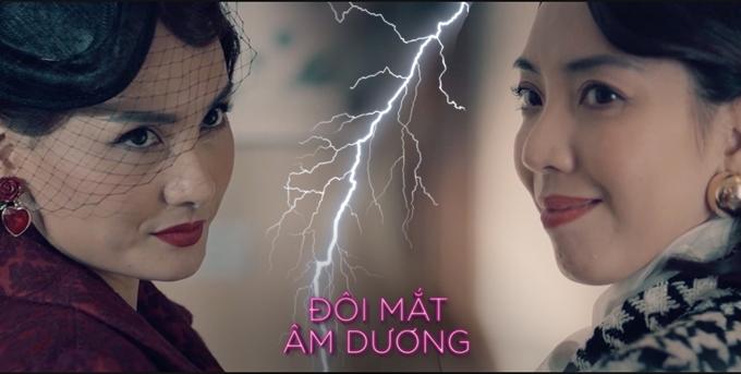 Bảo Thanh (trái) làm kẻ thứ ba đối đầu với Thu Trang.