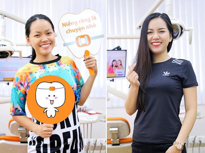 Chị em Phương Linh, Mỹ Linh tươi tắn hơn sau hai năm niềng răng.