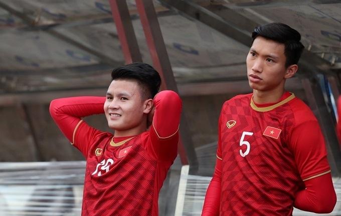 Quang Hải và Văn Hậu tại SEA Games 30. Ảnh: Đức Đồng.