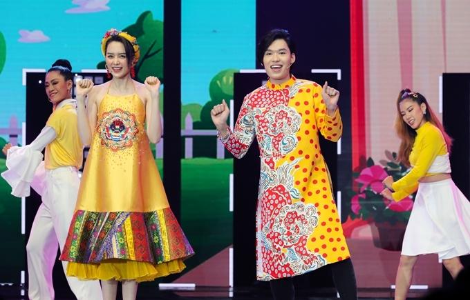 Quang Trung, Thiều Bảo Trang cho thấy màu sắc hiện đại, ca nhạc kịch trong sản phẩm nhạc tết vừa hợp tác Tết lại đến rồi.