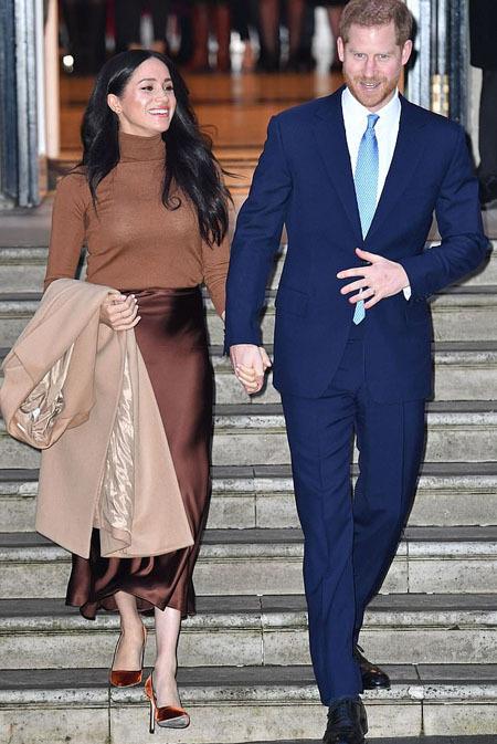 Sự kiện cuối cùng cặp vợ chồng tham gia ở Anh trước khi họ bày tỏ nguyện vọng rút khỏi vai trò thành viên cấp cao hoàng gia. Ảnh: Rex.