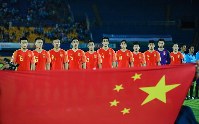 Tuyển Trung Quốc tại vòng chung kết U23 châu Á Thái Lan 2020.