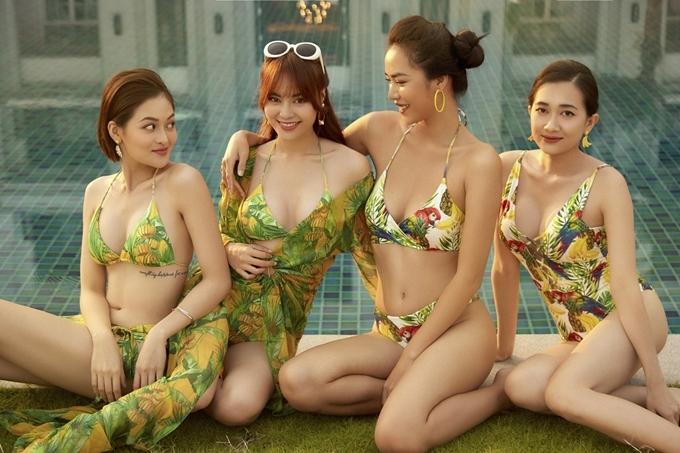 Thùy Anh, Lan Ngọc, Thoại Tiên, Phương Lan (từ trái qua) mang đến nhiều tiếng cười.