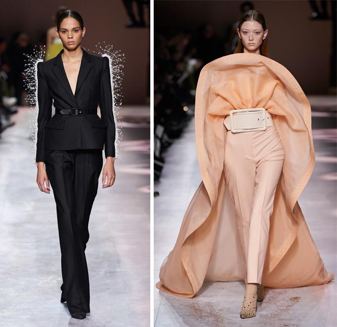 Bộ sưu tập cao cấp Givenchy Haute Couture Xuân 2020 bao gồm 41 tác phẩm thực hiện hoàn toàn thủ công với kỹ thuật cắt may và dựng phom điêu luyện, khẳng định đẳng cấp của thương hiệu lâu năm nước Pháp.