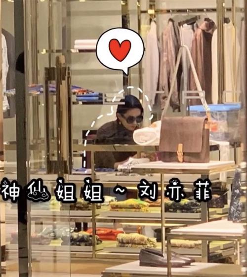 Cách đó vài ngày, Lưu Diệc Phi bị bắt gặp tại một cửa hàng mua sắm ở Bắc Kinh. Nữ diễn viên loay hoay chọn quần áo, mua thêm kính và bông tai.