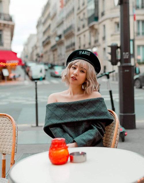 Ivy mới có chuyến đi Paris dự sự kiện của một nhãn hiệu mỹ phẩm kết hợp du lịch, tham quan đất nước châu Âu xinh đẹp. Cô rất thích vẻ đẹp hoa lệ của kinh đô thời trang này.