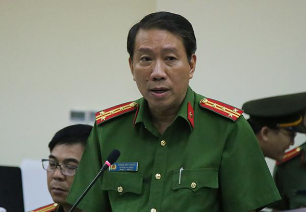 Đại tá Thanh, trưởng Công an quận 9. Ảnh: Kiến Tường.