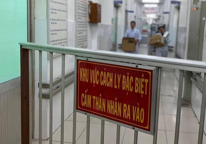 Bệnh viện Chợ Rẫy khu cách ly hai bệnh nhân từ Vũ Hán dương tính với virus nCoV. Ảnh: D.T