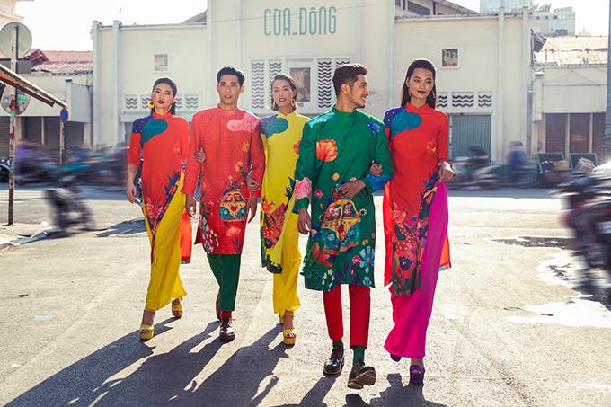Vào mỗi dịp Tết Nguyên Đán, hai nhà thiết kế Vũ Ngọc và Son đều mang tới bộ sưu tập đặc biệt với sắc màu rực rỡ và hoạ tiết linh vật theo từng năm.