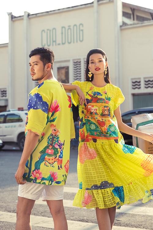 Bộ ảnh được thực hiện với sự hỗ trợ của nhiếp ảnh Chanh Nguyễn, stylistThanh Trúc Trương, trang điểm và làm tócTùng Châu, người mẫuKha Mỹ Vân - Trịnh Thu Hường - Quỳnh Anh - Đăng Khánh- Thanh Duy.